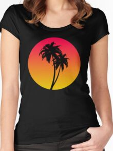 MASTER OF THE MIAMI SUNSET Women's Fitted Scoop T-Shirt