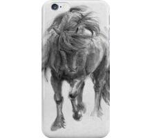 Black Horse sumi-e original watercolor painting iPhone Case/Skin