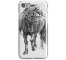 Black Horse sumi-e original watercolor painting iPhone Case/Skin