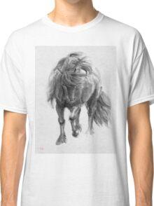 Black Horse sumi-e original watercolor painting Classic T-Shirt