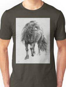 Black Horse sumi-e original watercolor painting Unisex T-Shirt