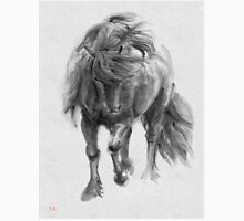 Black Horse sumi-e original watercolor painting Unisex T-Shirt