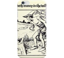 The Wonder Clock Howard Pyle 1915 0245 Casper Findeth Money in the Willow Tree iPhone Case/Skin