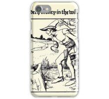 The Wonder Clock Howard Pyle 1915 0245 Casper Findeth Money in the Willow Tree iPhone Case/Skin