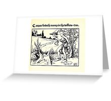 The Wonder Clock Howard Pyle 1915 0245 Casper Findeth Money in the Willow Tree Greeting Card