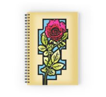 Stained Glass Rose Spiral Notebook