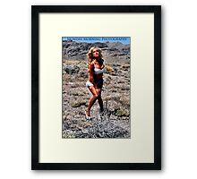 Sage & Satin Framed Print