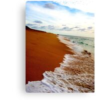 Secluded Sandy Beach Canvas Print
