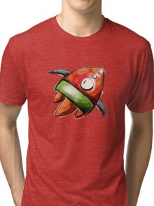 rocket ship Tri-blend T-Shirt