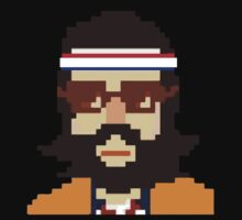 First Hipster Tennis Player - 8 bit by MagicRoundabout