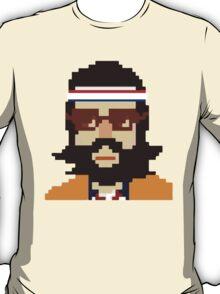 First Hipster Tennis Player - 8 bit T-Shirt
