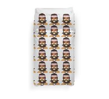 First Hipster - Awesome 8 bit design Duvet Cover