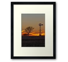 Texas Sunset (Vertical) Framed Print