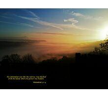 Habakkuk 3:4 Photographic Print