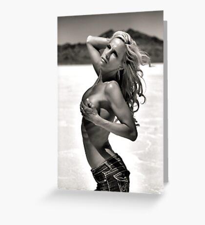 Black & White Beauty Greeting Card