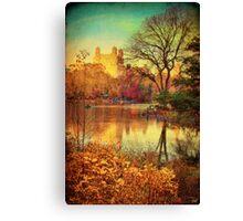 Central Park, A Vintage Fall Fantasy Canvas Print