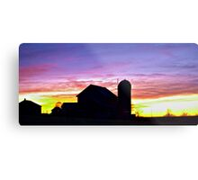 Sunset in Upstate NY Metal Print