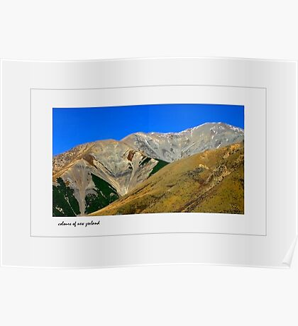 colourful mountains Poster