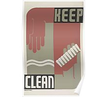 WPA United States Government Work Project Administration Poster 0045 Keep Clean Poster