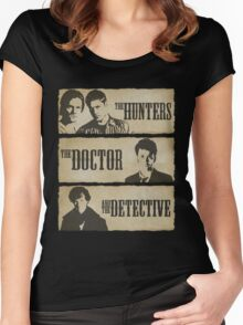 The Hunters, The Doctor and The Detective  Women's Fitted Scoop T-Shirt