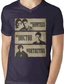 The Hunters, The Doctor and The Detective  Mens V-Neck T-Shirt