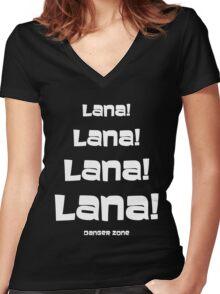 Lana!  Women's Fitted V-Neck T-Shirt