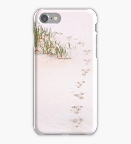 pawprints - South Stradbroke Island Qld Australia iPhone Case/Skin