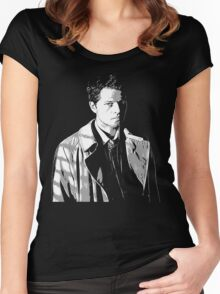Castiel in the Shadows Women's Fitted Scoop T-Shirt