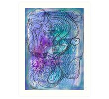 Eithne Sweeney Art, Flow the mermaid Art Print