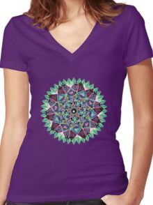 Chandra Moon Women's Fitted V-Neck T-Shirt