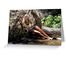 Beached Blond Greeting Card