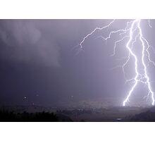 Eltham Valley Lightning Bolts Photographic Print