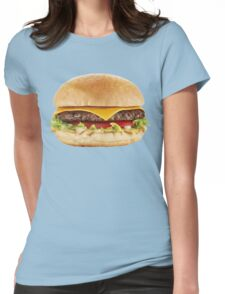 AWESOME COOL HAMBURGER Womens Fitted T-Shirt