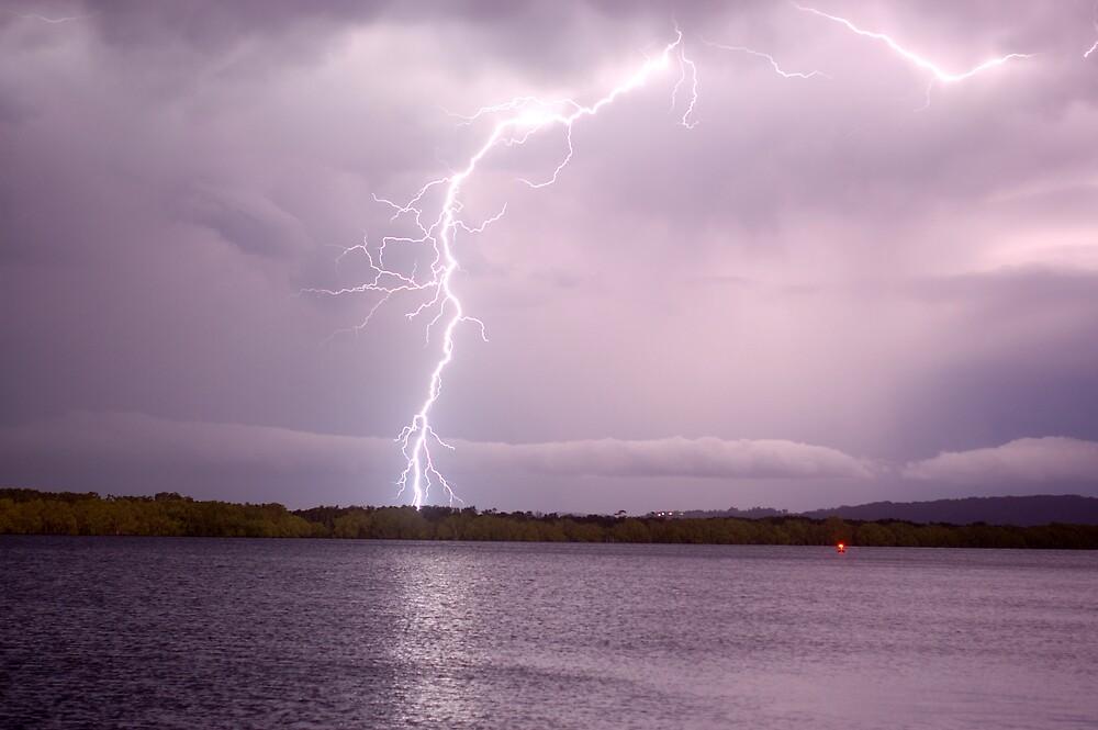 Lightning Across the Richmond River by Michael Bath