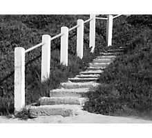 Sandy Steps... Going Up?? Photographic Print