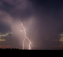 Twilight Lightning in Rain by Michael Bath
