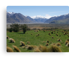 Edoras, Mt Sunday, Lord of the Rings, NZ Canvas Print