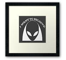 I want to Believe, Alien  Framed Print