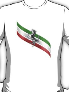 Ferrari Lover ~ The flag [silver] T-Shirt