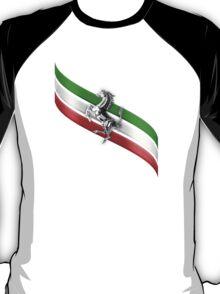 Ferrari Lover ~ The flag [silver] T-Shirt