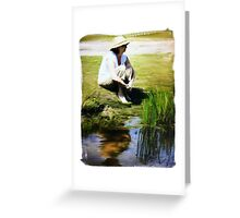 Painter Oil Greeting Card