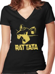 RAT TATA - RATATAT Music Band Mashup Women's Fitted V-Neck T-Shirt
