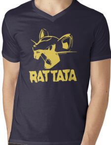 RAT TATA - RATATAT Music Band Mashup Mens V-Neck T-Shirt