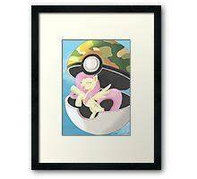 I Choose You, Fluttershy! Framed Print