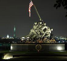 Iwo Jima at Night by Lida Verner