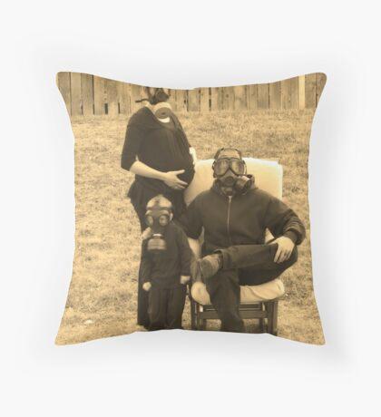 Nuclear Family Throw Pillow