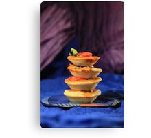 Tower of mini vegetables tarts  Canvas Print