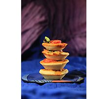 Tower of mini vegetables tarts  Photographic Print
