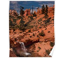 Waterfall in the Desert 2 Poster