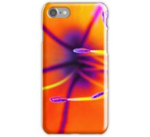 Macro of a lily flower with focus on pistil iPhone Case/Skin